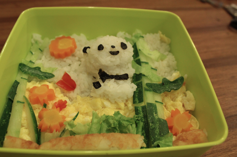 All Veggie Panda Bento - Ayobaking recipes