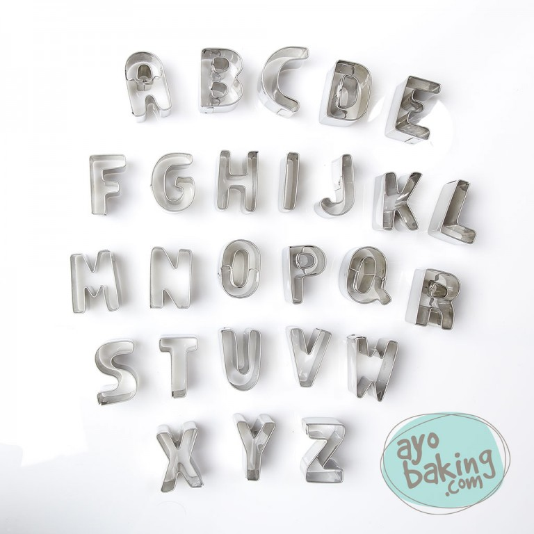 Alphabet Cookie Cutter Set - Ayobaking products